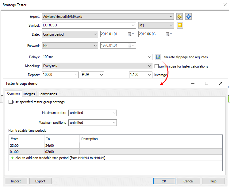 What does it mean access violation at address forex tester