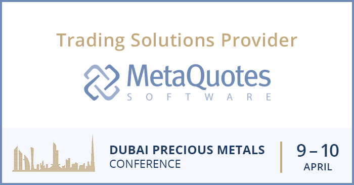 MetaQuotes Software — технологический спонсор Дубайской конференции по драгметаллам DPMC
