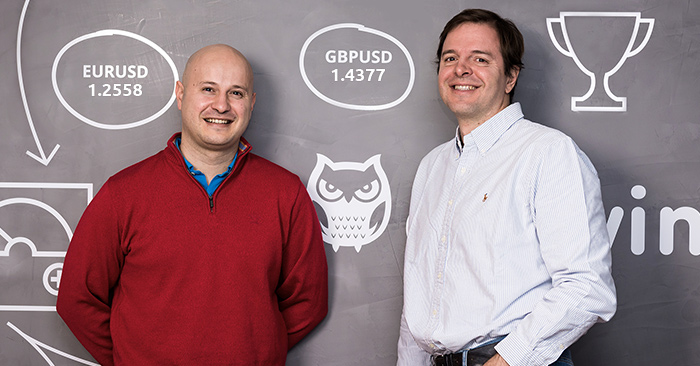 Darwinex founders — brothers Javier and Juan Colóns