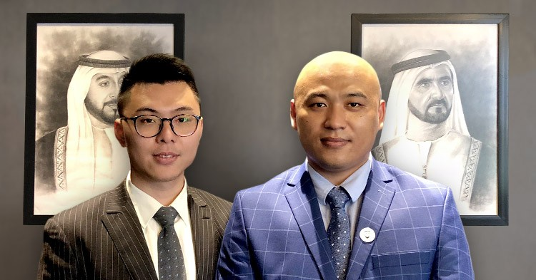 Mr Jiguang Yu et Mr Weihua Sheng, Directeurs de JRG International Brokerage DMCC