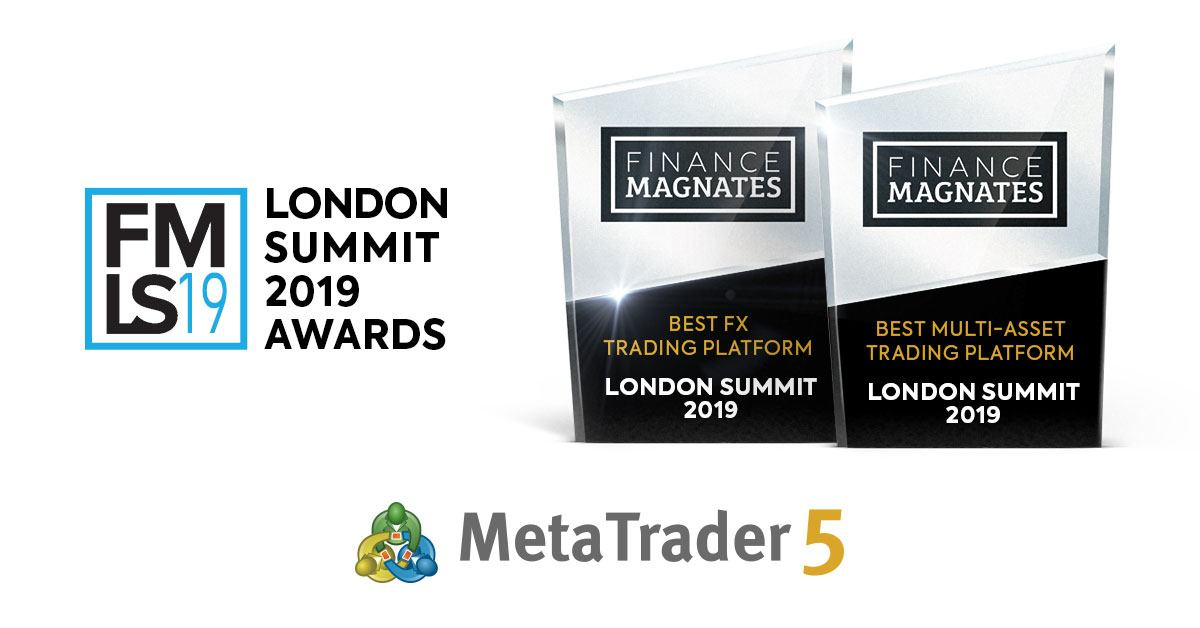 MetaTrader 5 wins awards in two categories during London Summit Awards 2019