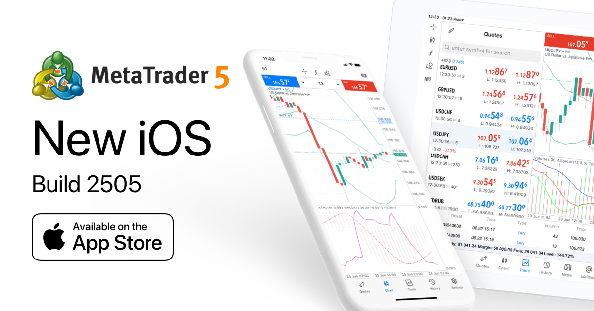 MetaTrader 5 iOS build 2505