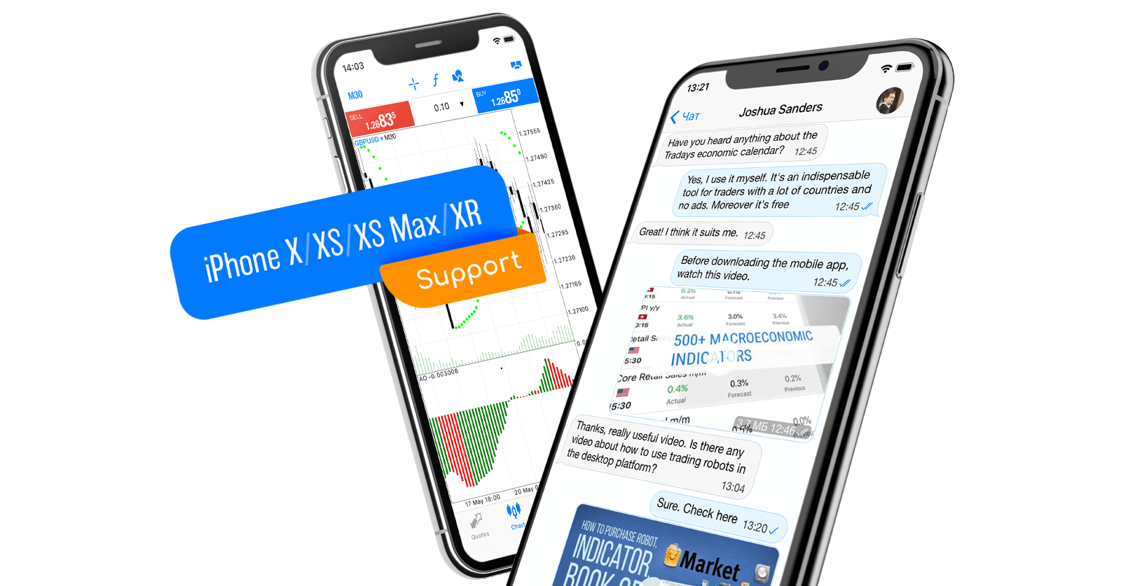 MetaTrader 5 iOS内部支持iPhone X/XS/XS Max/XR