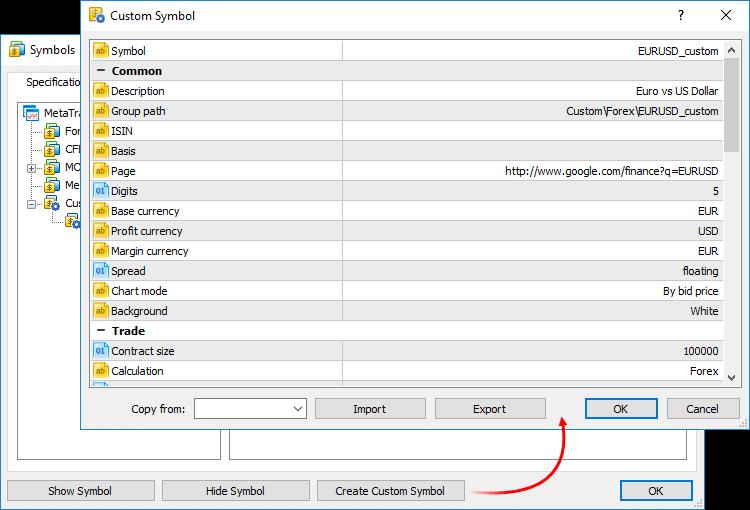 Metatrader 5 Build 1640 Creating And Testing Custom Symbols