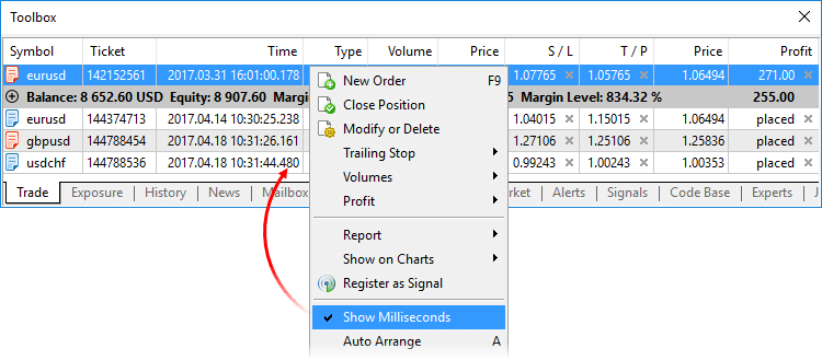 MetaTrader 5 Build 1596: access to the price history