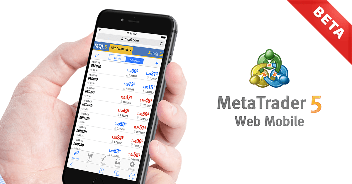Betaversion der mobilen Webplattform MetaTrader 5