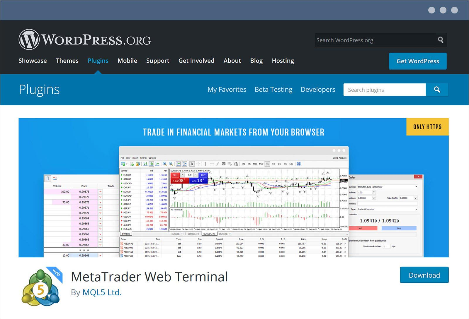 Das MetaTrader Webterminal Plugin für WordPress