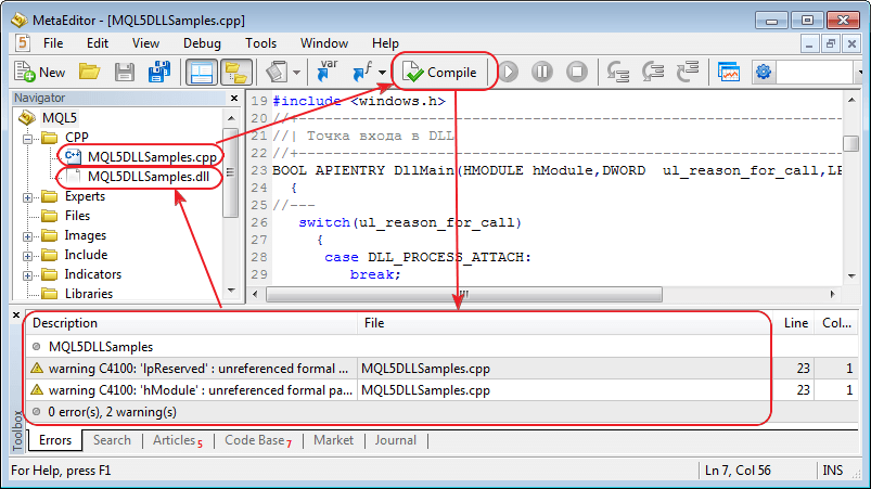 Added С++ files (*.cpp) compilation support in case Microsoft Visual Studio 2008/2010/Express is installed