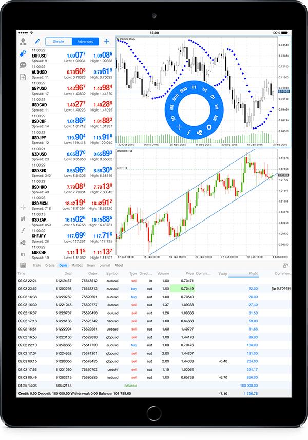 MetaTrader 5 iOS build 1225 支持iPad Pro并在iPad上添加纵向模式