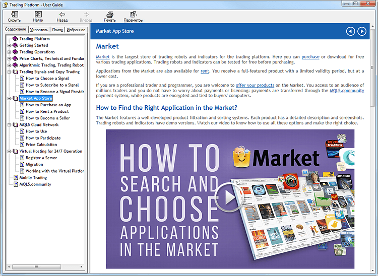 More Convenient User Guide in MetaTrader 5