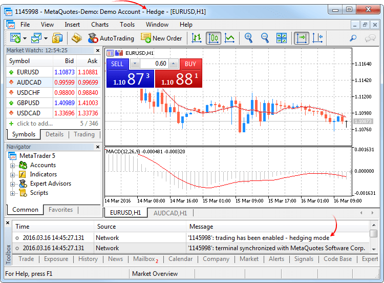 Forex demo account mt5