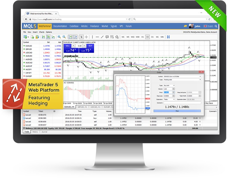 Trade in MetaTrader 5 via your browser — the beta version of the web platform released
