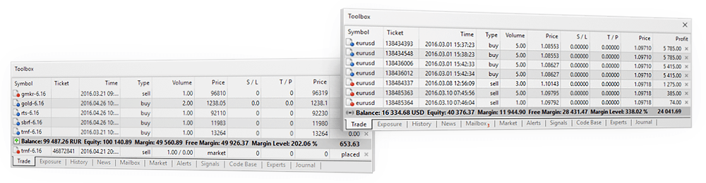 MetaTrader 5 supports two position accounting systems – netting for exchanges and hedging for Forex