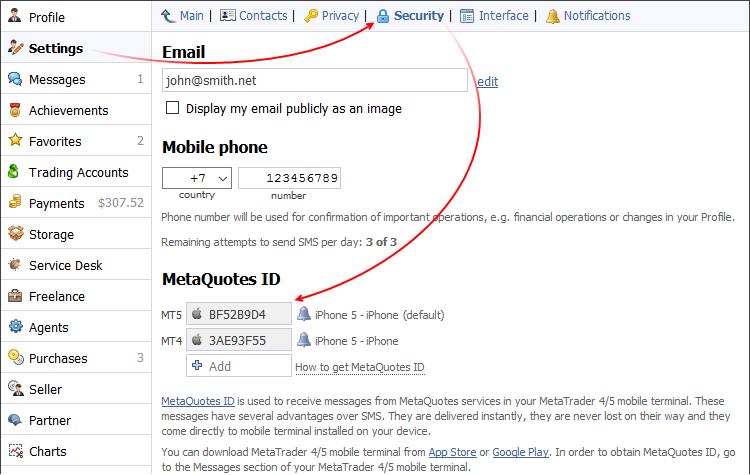 User profile at MQL5.community