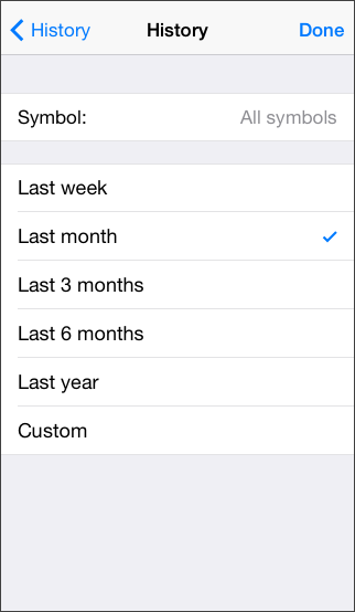 Customize the History Appearance