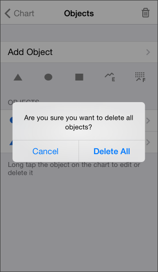 Deleting all objects