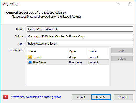 Creating a ready-made Expert Advisor - MQL4/MQL5 Wizard