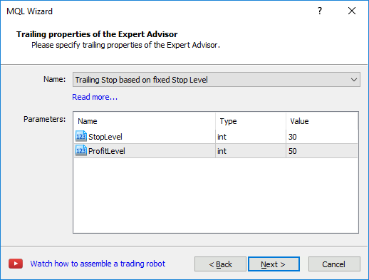 Creating a ready-made Expert Advisor - MQL4/MQL5 Wizard