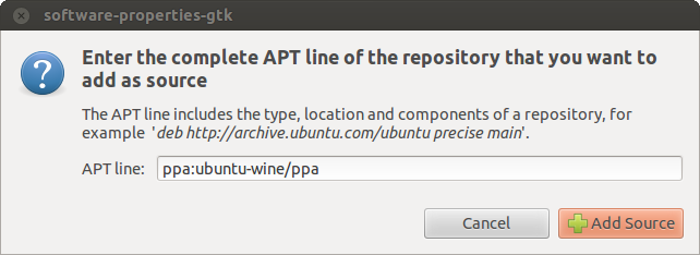 Specify the repository to install Wine