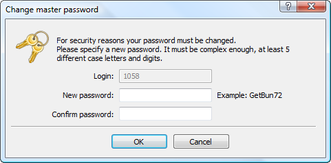 Forced password change increased safety