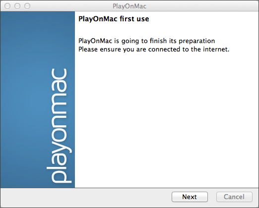 Wait for PlayOnMac installer to check and install components