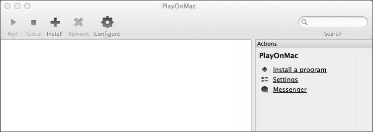 PlayOnMac is ready for use